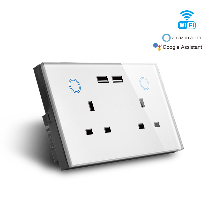 Smart Wifi UK Double Socket&USB charger